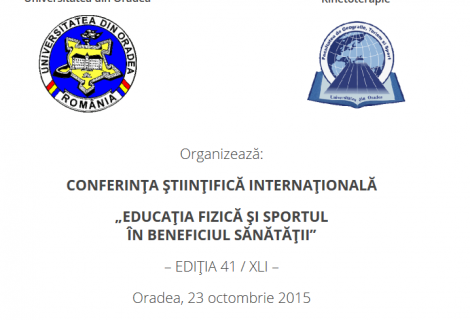 Conferința Științifică Internațională 23 Octombrie 2015