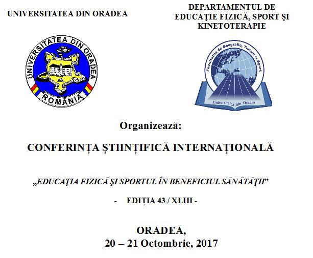 Conferința Științifică Internațională 20 – 21 Octombrie 2017